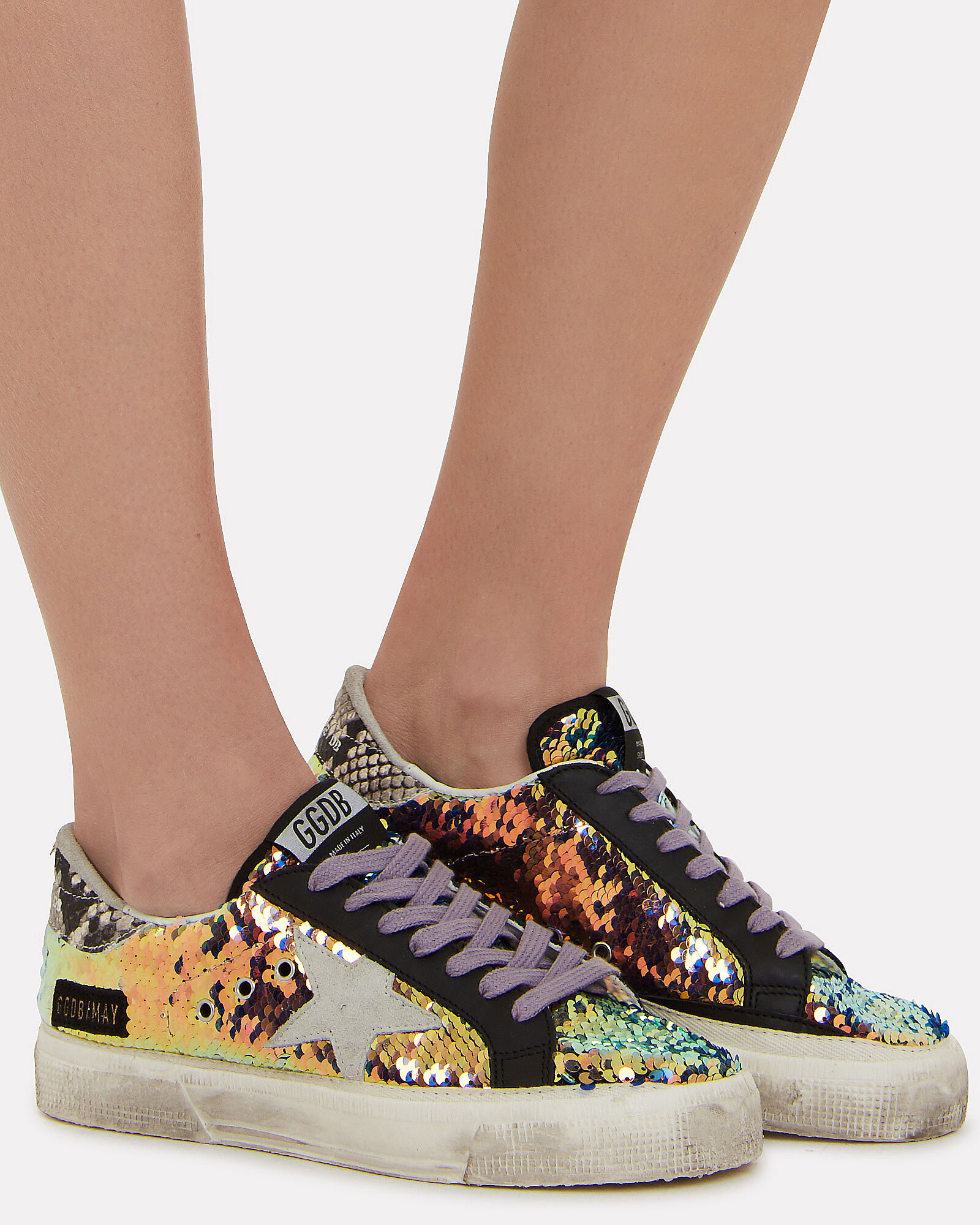 May Ice Star Sequin Sneakers, RAINBOW SEQUIN/WHITE, hi-res