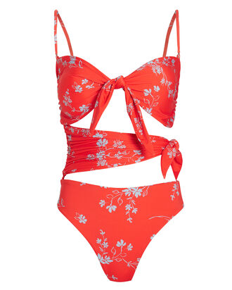 Convertible Poppy One Piece Swimsuit, ORANGE/FLORAL, hi-res