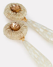 Deco Pearl Teardrop Earrings, IVORY, hi-res