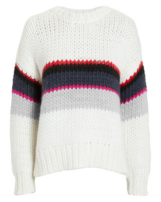 Verila Sweater, WHITE/RED/PINK, hi-res