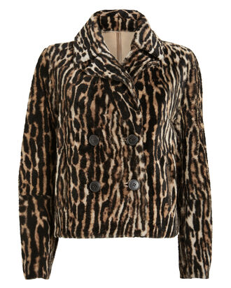 Reversible Leopard Shearling Moto Jacket, BROWN/LEOPARD, hi-res