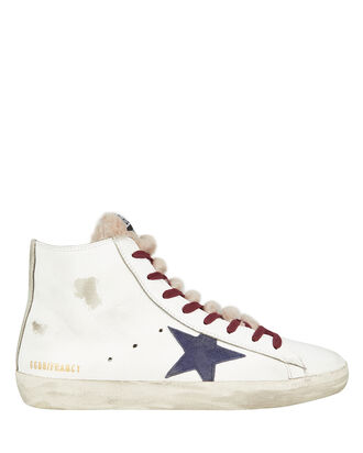 Francy High-Top Fur Sneakers, WHITE, hi-res