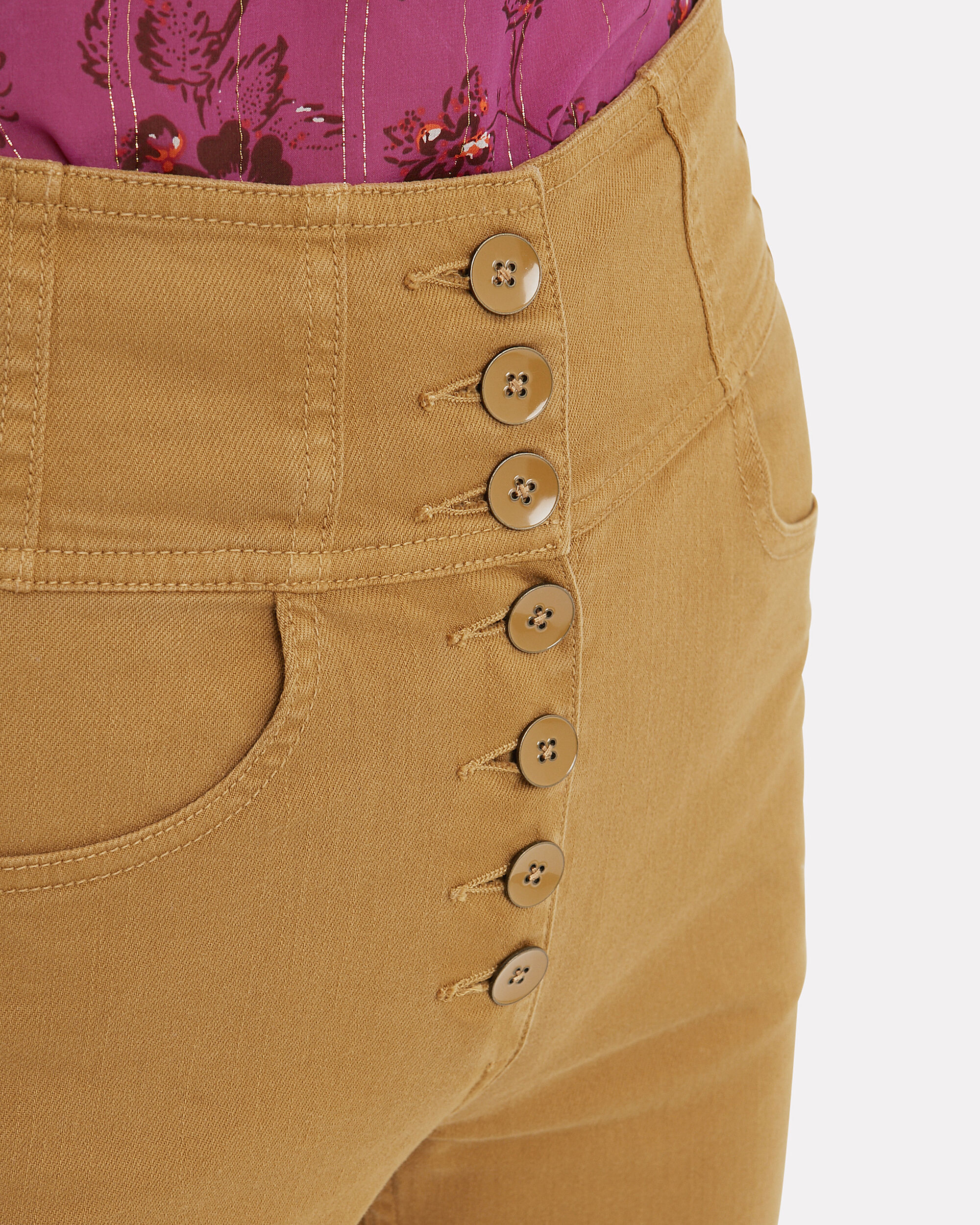 Ellis High Waisted Jeans, BRONZE YELLOW, hi-res