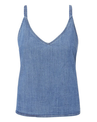 Twist Cami Denim Top, DENIM, hi-res