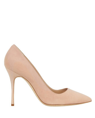 Brushed Suede Pumps, BLUSH, hi-res