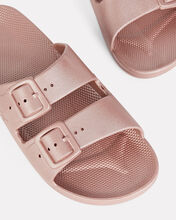 Double Strap Slide Sandals, ROSE, hi-res
