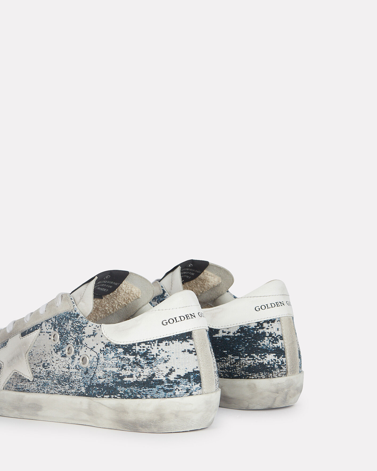 Superstar Low-Top Jacquard Sneakers, NAVY/WHITE, hi-res