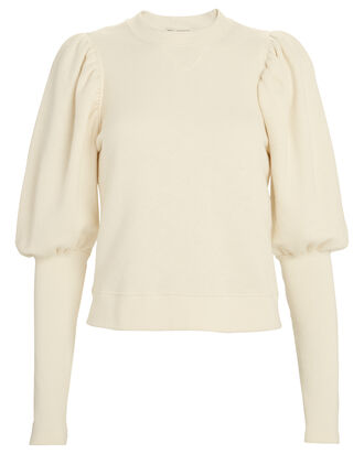 Military Fleece Philo Sweater, ECRU, hi-res