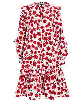 Nanette Long Sleeve Floral Dress, RED/FLORAL, hi-res