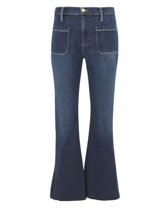 Le Bardot Crop Flare Jeans, DARK BLUE DENIM, hi-res