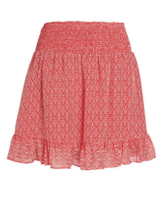 Rena Printed Ruffle Mini Skirt, MULTI, hi-res