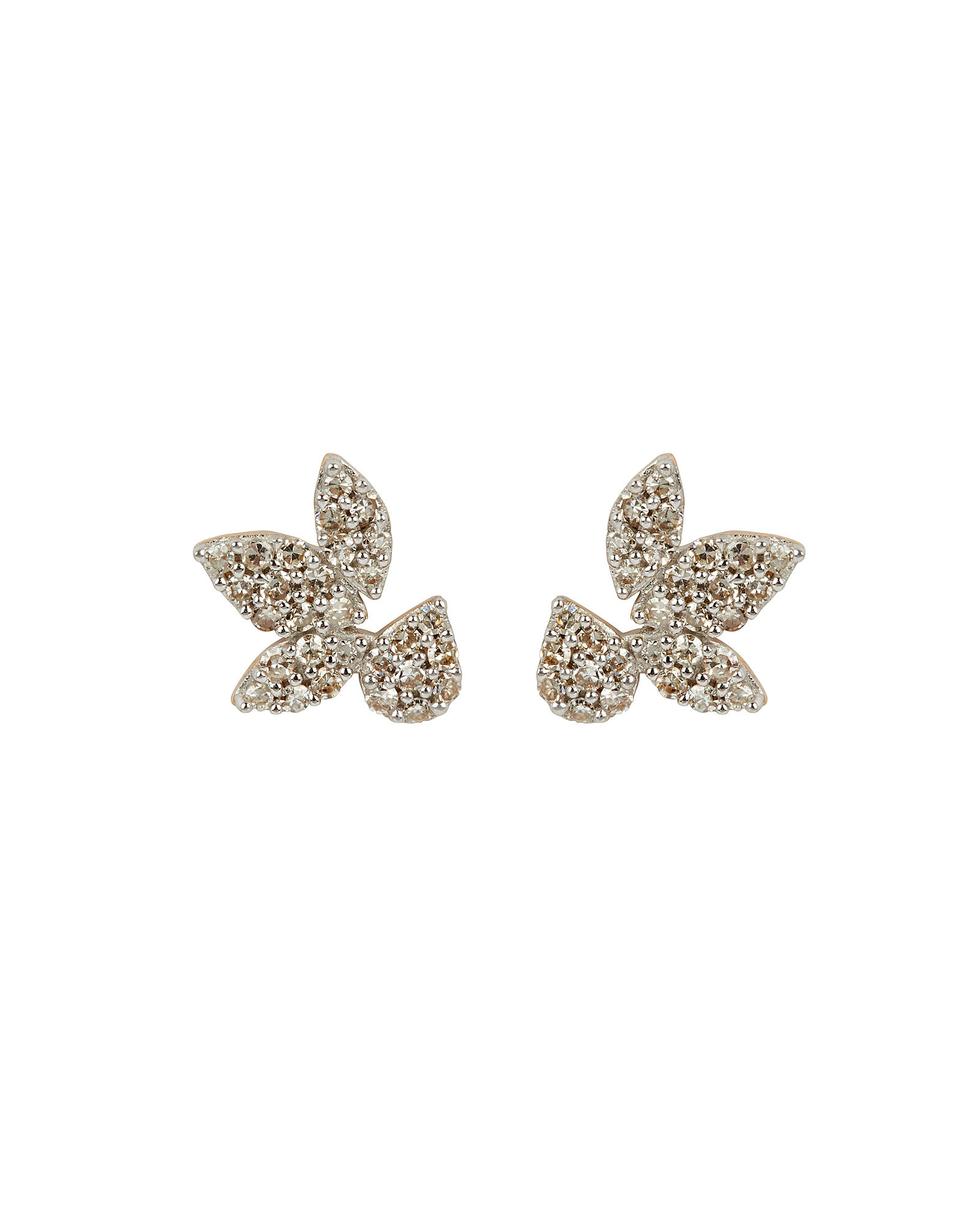 Pavé Diamond Stud Earrings, GOLD, hi-res