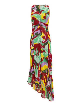 Pina Abstract Midi Dress, RED/YELLOW ABSTRACT, hi-res