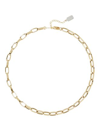 Blake Rectangle Chain Necklace, GOLD, hi-res