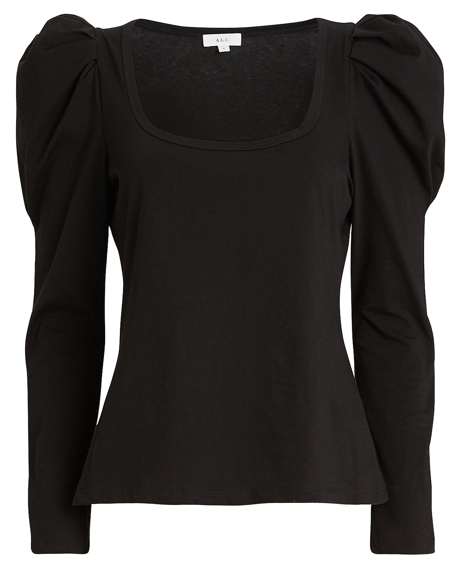 Sewell Puff Sleeve T-Shirt, BLACK, hi-res