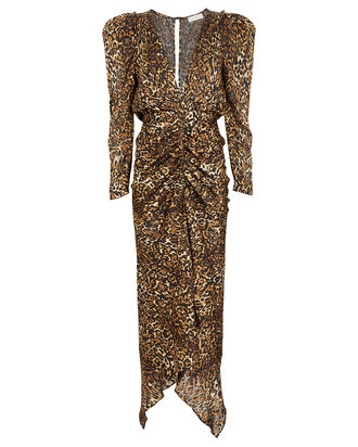 Astrid Leopard Burnout Dress, BROWN/LEOPARD, hi-res