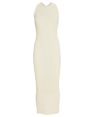 Anais Sleeveless Rib Knit Dress, IVORY, hi-res