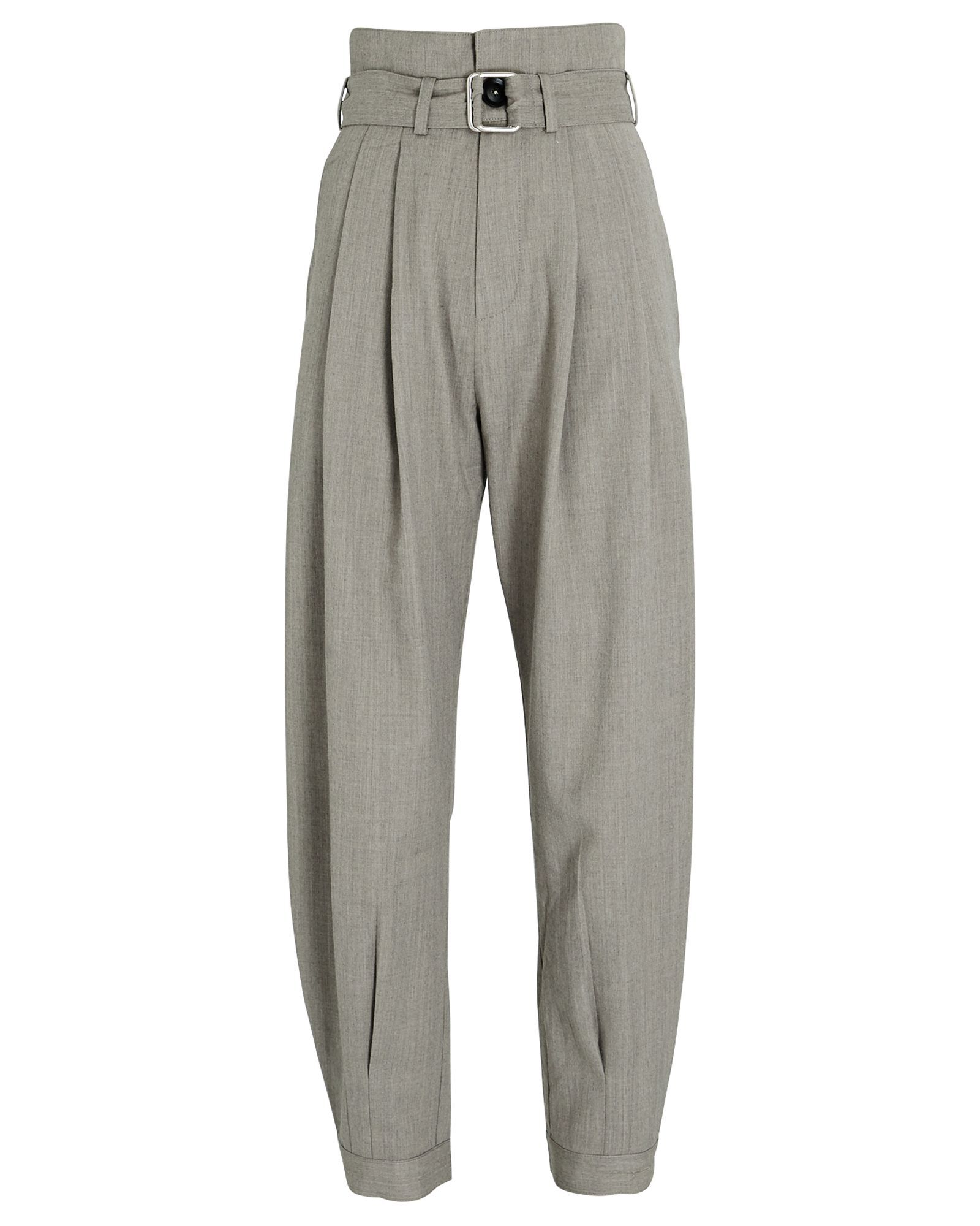 Billy Belted Trousers, GREY, hi-res