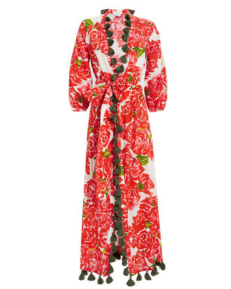Lena Bouquet Robe Dress, MULTI, hi-res