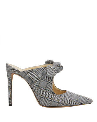 Evelyn Plaid Mules, GREY PLAID, hi-res