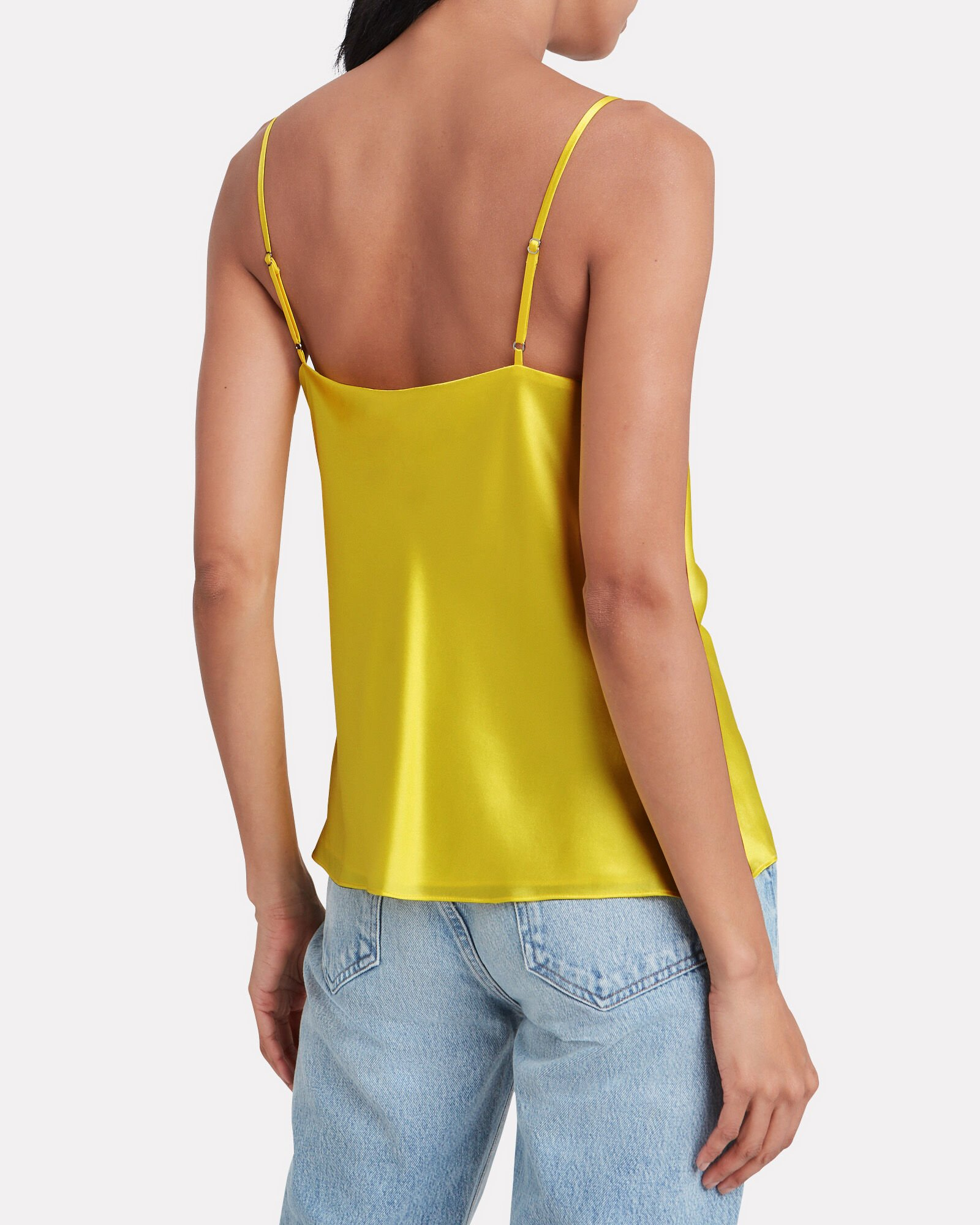 Kay Silk Cowl Neck Camisole, BRIGHT YELLOW, hi-res