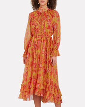 Brightside Frilled Button Down Dress, MULTI, hi-res