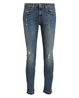 Alison Distressed Skinny Jeans, MEDIUM WASH DENIM, hi-res
