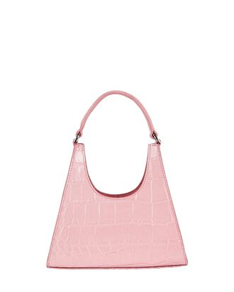 Mini Rey Leather Shoulder Bag, PINK, hi-res