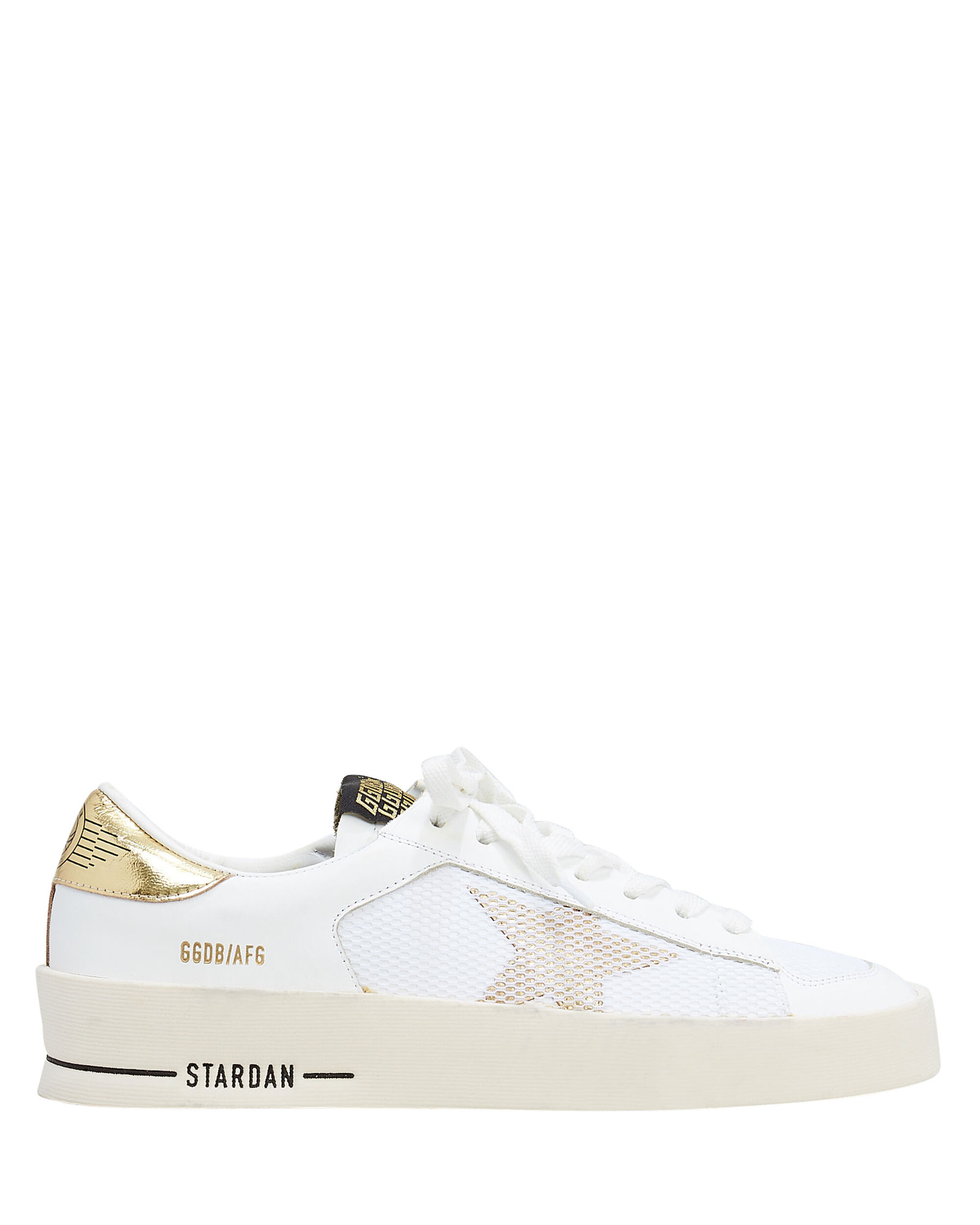 Star Dan White Leather Sneakers, WHITE, hi-res