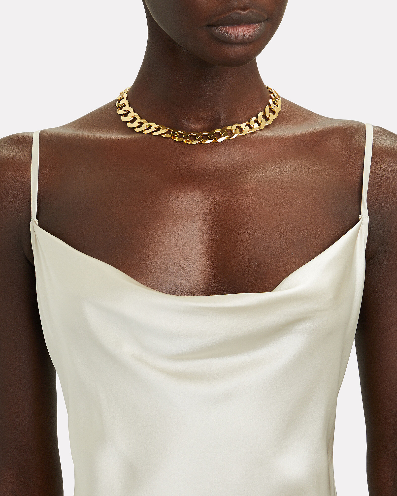 XXL Curb Chain Necklace, GOLD, hi-res