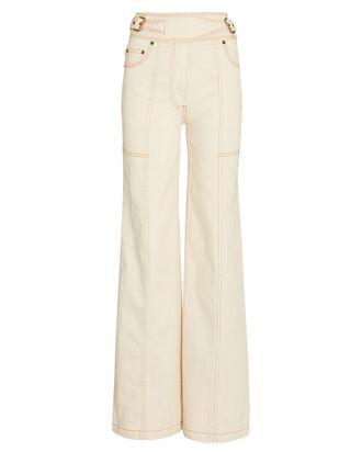 Albie Wide-Leg Jeans, WHITE, hi-res
