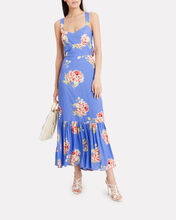 Mitzie Floral Sleeveless Dress, ORANGE, hi-res
