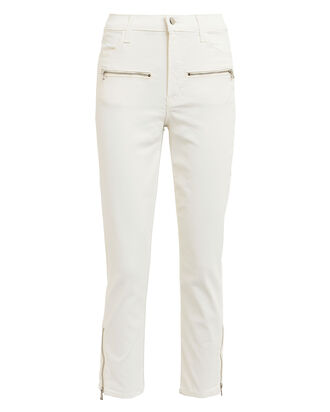 Moto Ruby Cropped Cigarette Jeans, COATED WHITE DENIM, hi-res