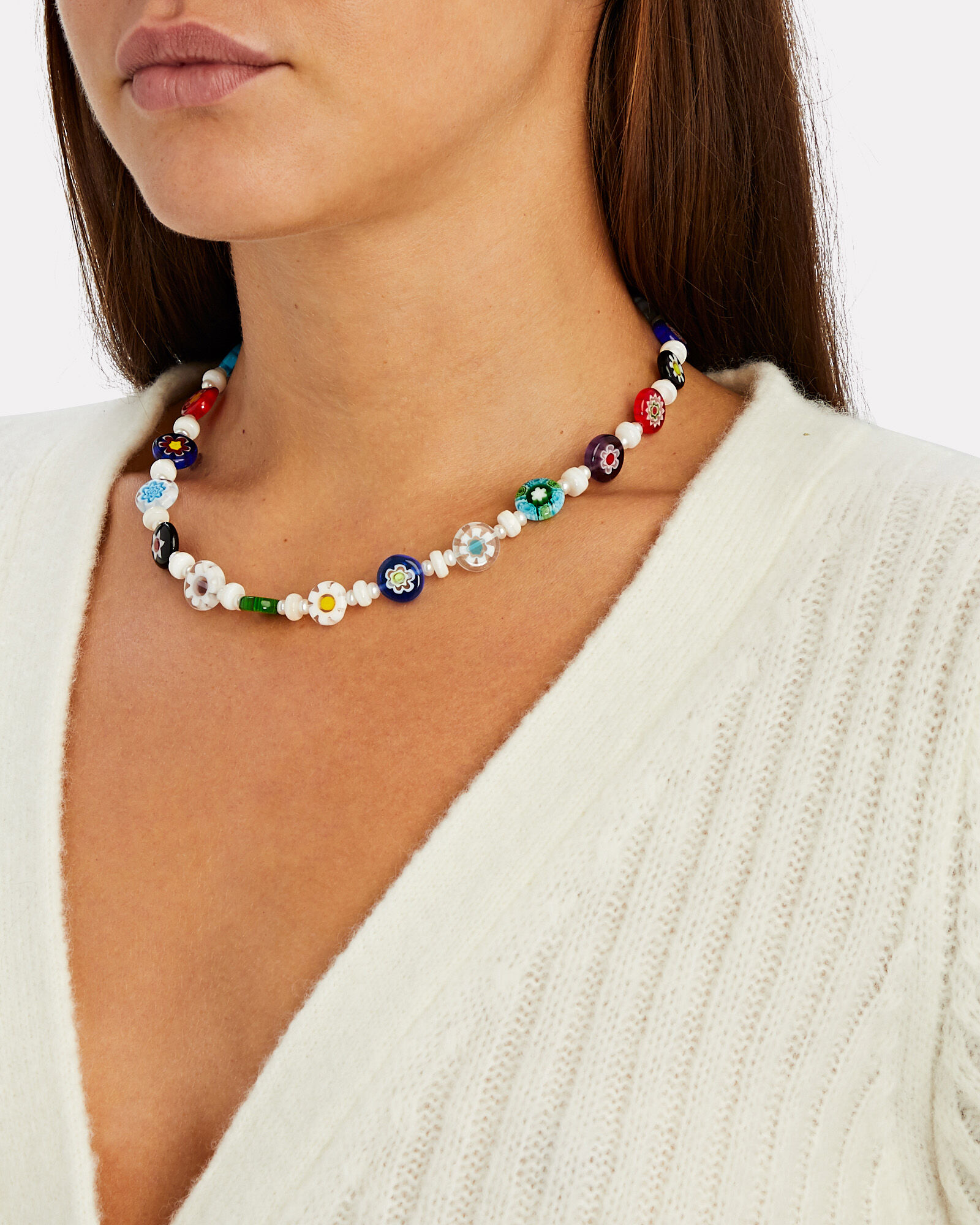 Funky Town Beaded Necklace, RAINBOW, hi-res
