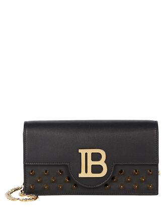 B Studded Crossbody Smartphone Case, BLACK, hi-res