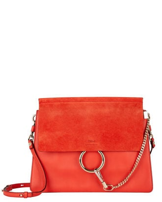 Faye Medium Shoulder Bag, RED, hi-res
