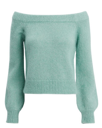 Adelina Off Shoulder Sweater, GREEN-LT, hi-res
