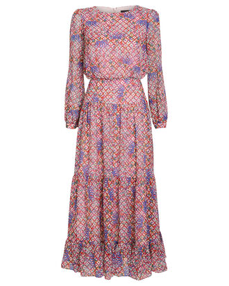 Isabel Floral Print Maxi Dress, MULTI, hi-res