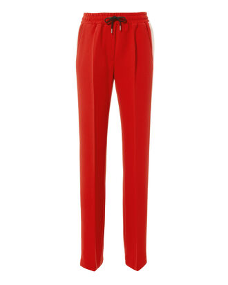 Side Stripe Red Track Pants, BLACK, hi-res