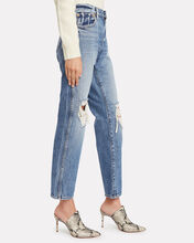 Kyle Distressed Straight-Leg Jeans, LIGHT WASH DENIM, hi-res