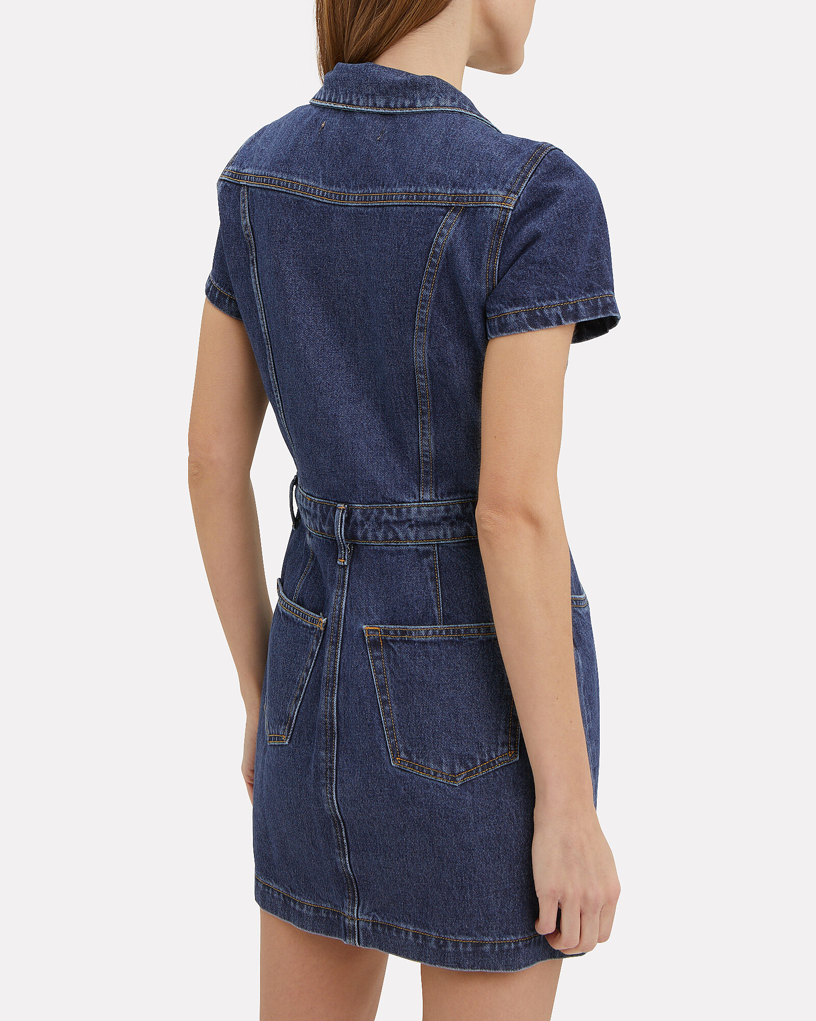 Max Denim Shirt Dress, DARK WASH DENIM, hi-res