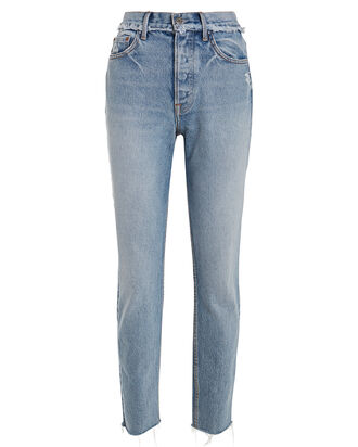 Karolina Slim High-Rise Jeans, FADED BLUE DENIM, hi-res