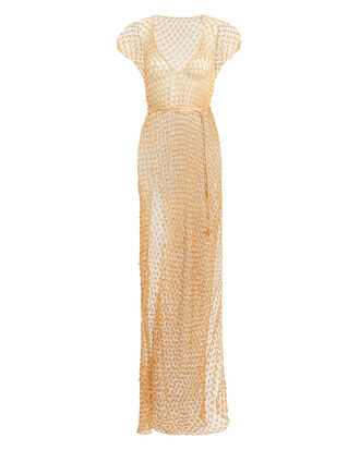 Aphrodite Spider Cover-Up Dress, GOLD, hi-res