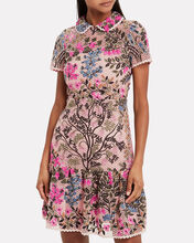 Floral Vines Macramé Shift Dress, BLUSH/FLORAL, hi-res