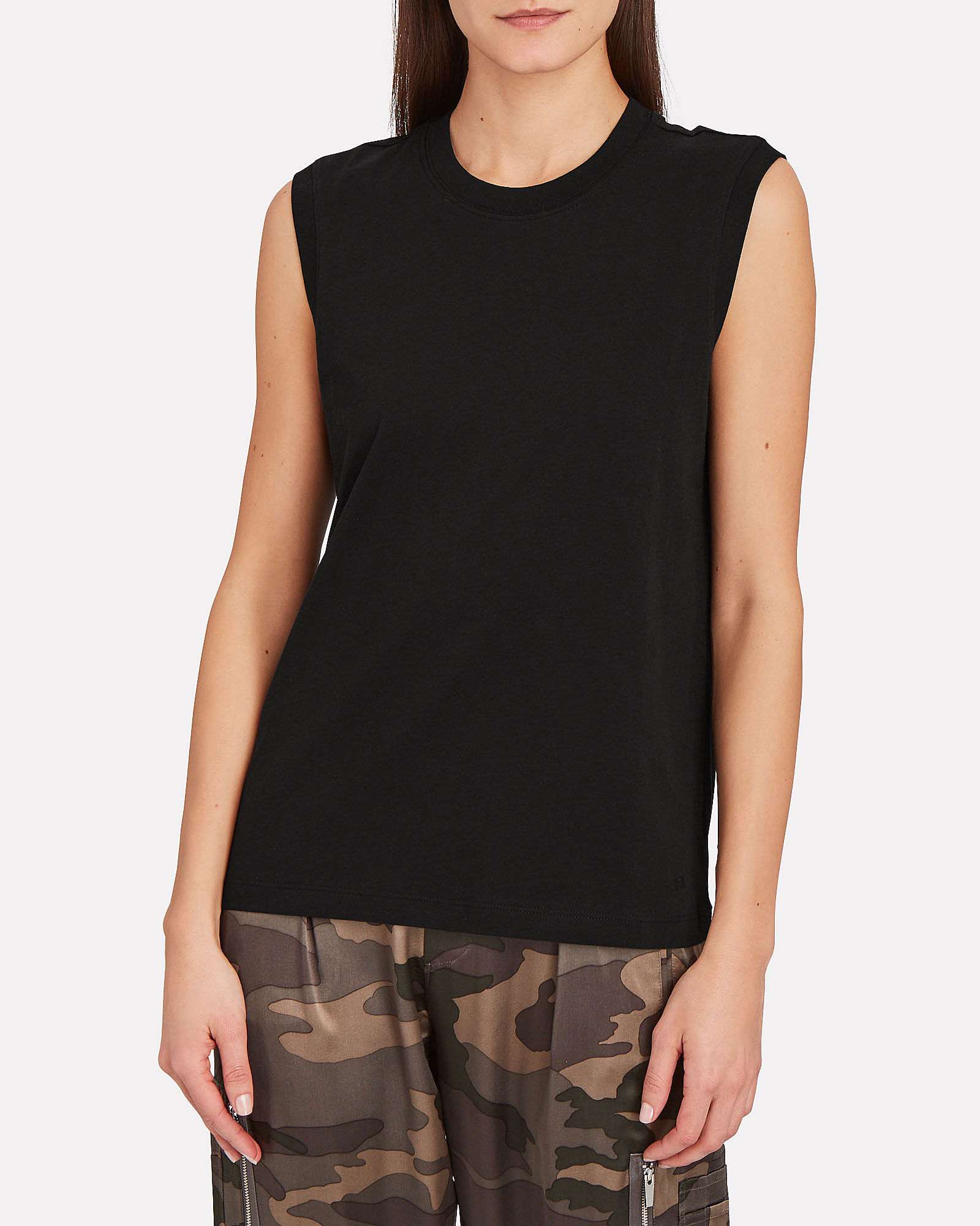 Classic Jersey Muscle Tank Top, BLACK, hi-res