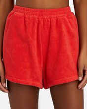 Estate Cotton Terry Shorts, RED, hi-res