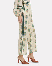 Verity Cropped Linen Pants, IVORY/FLORAL, hi-res