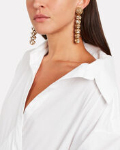 Tiered Crystal Drop Earrings, CLEAR, hi-res
