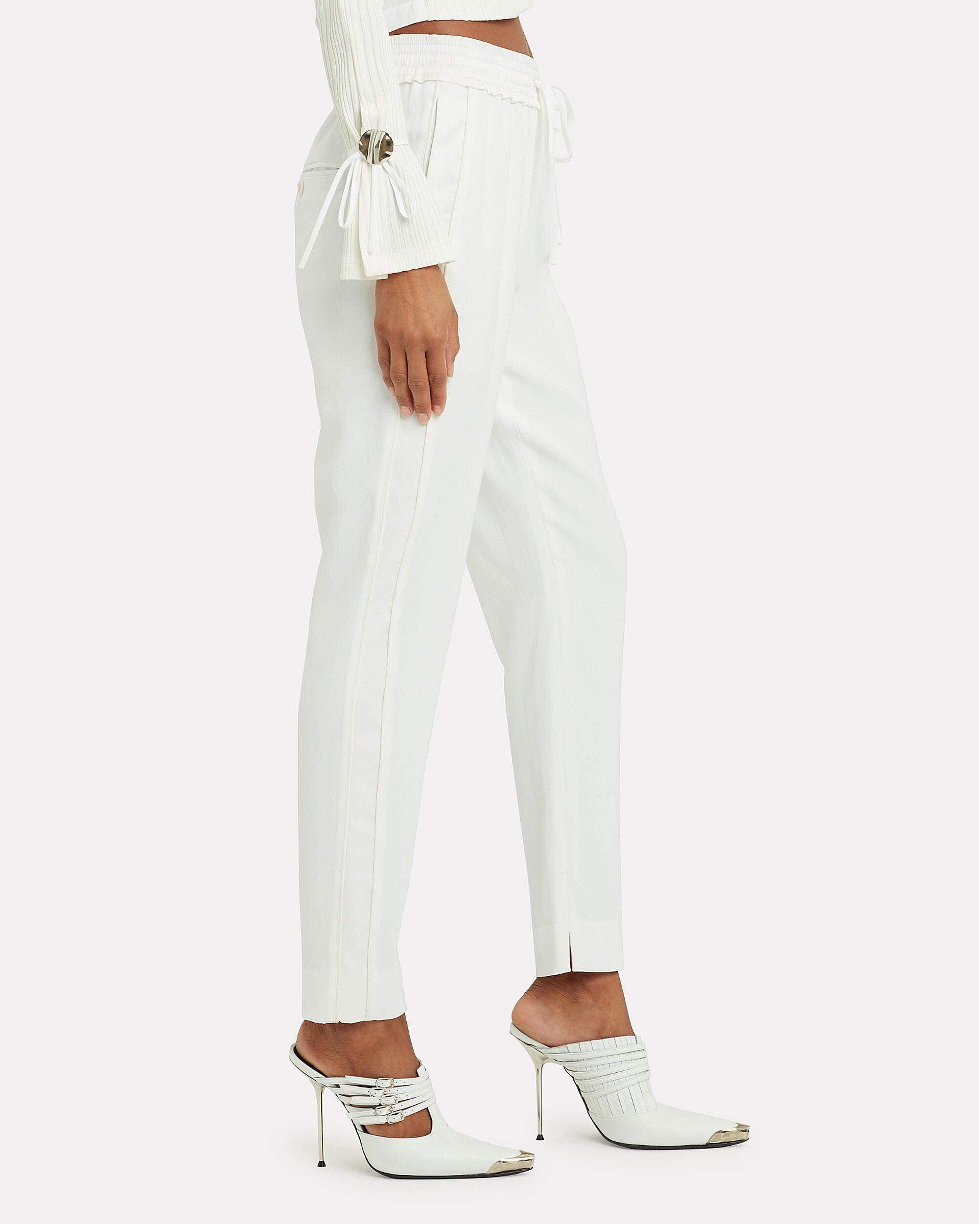 Ivory Suiting Joggers, IVORY, hi-res