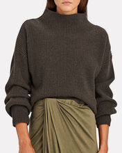 Helena Funnel Neck Rib Knit Sweater, OLIVE/ARMY, hi-res